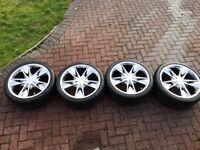 Platinum Snyper 20 inch 8.5j alloy wheels