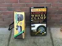 Wheel clamp, trailer , caravan, car