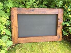 Rustic wooden chalkboard menu wedding seat plan wedding
