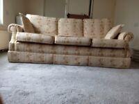 3 seat sofa, foot stool and 2 free cushions
