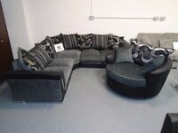 Brand New Black And Grey Corner Sofa. Also Comes In 3+2. Corner Or 3+2 With Cuddle Is £850