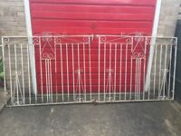Wrought iron gates for sale. Sold as pair. Collection only