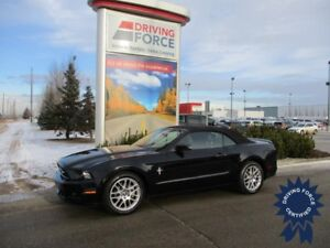 2014 Ford Mustang 4 Passenger Convertible, Leather-Trimmed Seats