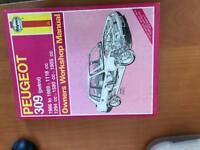 Haynes manual Peugeot 309