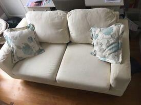 SOLD- Cream sofa bed
