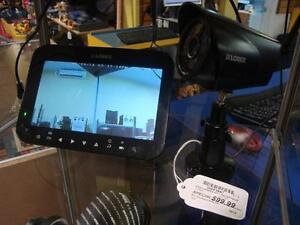 Système de caméra de surveillance sans fil avec moniteur/récepteur