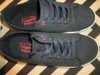 Penguin (Fire) Navy Blue Canvas Boat / Deck Shoe - UK 5 - Mens -Boys - Womens - Girls - Box included