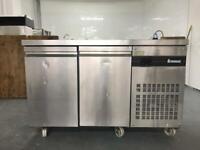 Inomak two door counter fridge