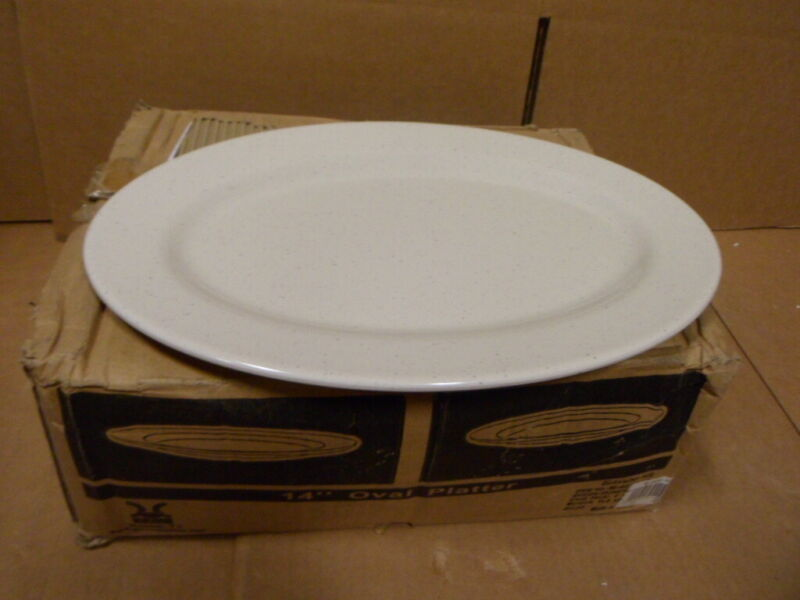"""Case 12 GET Santa Fe Ironstone 14"""" Oval Platter Dinner Restaurant Plate"""