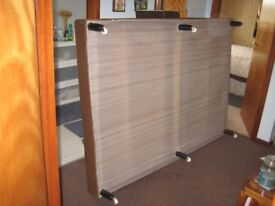 Bed. Base only for Divan 4Ft 6ins x 6Ft 6ins. With wheels.