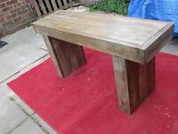 New Solid Wood Bench - Wooden Interior or Exterior