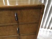 Art Deco Vintage 1930's Walnut Chest of Drawers.