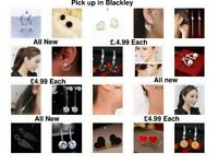 All new Earrings Necklaces and Pendant