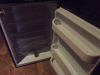 HOTPOINT black under worktop larder fridge