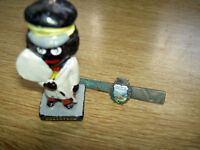 Silver Tie Pin and small Figurine