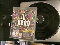 PLAYSTATION PS3 DJ HERO & TURNTABLE TURN TABLE