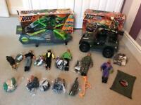 Action Man bundle inc. 4x4 & Heligun vehicles