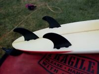 6.10 Surfboard with fins, Bag and Leash in VGC