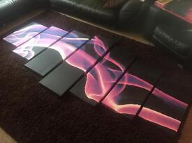 XL Canvas wall art purple smoke