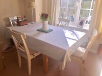 Hábitat table & 4 IKEA chairs