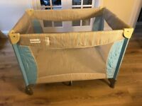 Little Shield wipe clean portable travel cot/play pen with carry case
