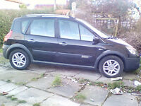 Renault scenic conquesr for sale or car + cash {£2500 max} for larger tow car or 4x4