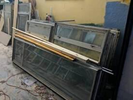Aluminium & lead diamond insert windows