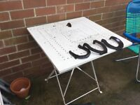 Metal garden table and chairs , possible free delivery