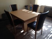 Dining suite Table and 4 chairs