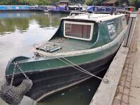 Project Narrowboat 30 ft - good condition, partial update required to interior
