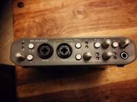 M audio fast track Pro external sound card usb