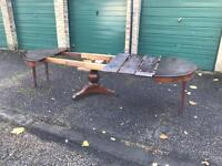 19TH CENTURY FRENCH MAHOGANY EXTENDING DINING TABLE NEEDS RESTORING