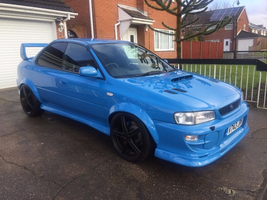 rare 2 door subaru impreza turbo 2000 blue 22b wrx uk sti type r coupe mot oct 17 51k miles fsh. Black Bedroom Furniture Sets. Home Design Ideas