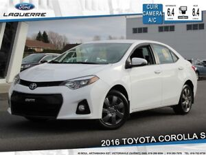 2016 Toyota Corolla S**CUIR*CAMERA*BLUETOOTH*CRUISE*GR. ÉLECT.**
