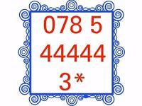 Mobile Sim Card Brand New Unused Gold Easy Memorable Number - 078 5 44444 3 * - £40