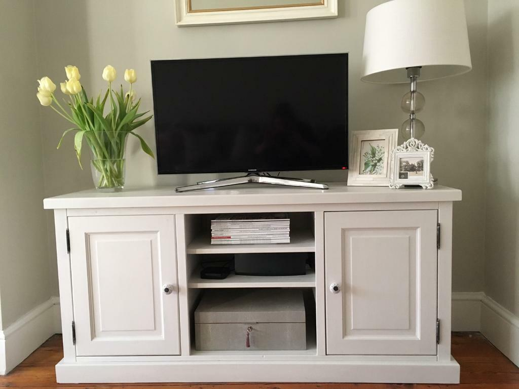TV stand unit painted in Farrow & Ball