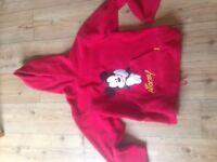 Mickey Mouse Disneyland resort Paris Ladies size 14 red hoodie
