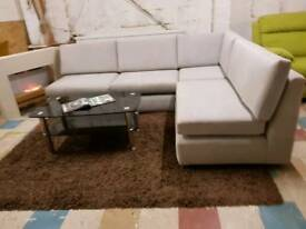 X display grey corner sofa settee couvh fast delivery!!!
