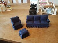Dolls house furniture sofa set