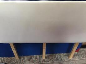4ft Small Double White Headboard