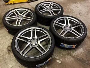 "19"" Staggered AMG Style Wheels 5x112 and Performance Tires (Mercedes Cars) Calgary Alberta Preview"