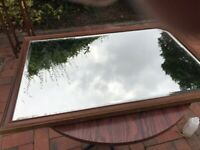 Stunning vintage unusual bevelled edge mirror and frame