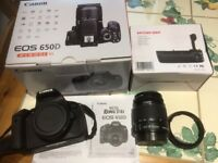 Canon EOS 650D DSLR Digital Camera (Boxed) plus 2 zoom lenses and extras