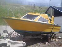 50 hp honda engine boat and trailer