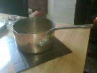 Vintage early 20th century no22 copper pan