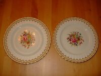 2 Royal Worcester Kempsey China Plates