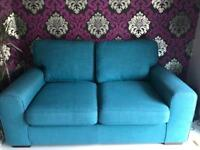 DFS Teal sofa 3 Years old good condition!! Only light use £100 Ono needs to go quickly thanks!