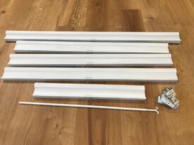 5 x IKEA HOPPVALS WHITE CELLULAR / DUETTE BLINDS
