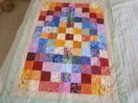 COT QUILT / PLAY BLANKET - BRAND NEW HAND MADE QUILT