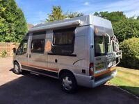 Dethleffs Globecar Ford Transit campervan with U-shape cozy lounge and high specs